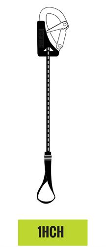 Seago veiligheidslijn 1 haak en 1 lus - overbelastingsindicator