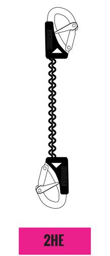 Seago veiligheidslijn 2 haken - elastisch - overbelastingsindicator