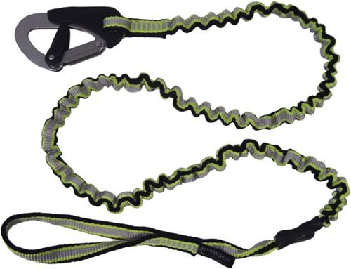 Spinlock veiligheidslijn elastisch 1 haak en lus