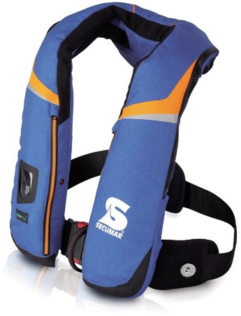 Secumar Scout 3D Reddingsvest - 275N - blauw - noodverlichting- sprayhood