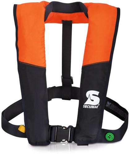 Secumar Vivo Reddingsvest - 100N - oranje/navy - handbediening (geen automaat! )