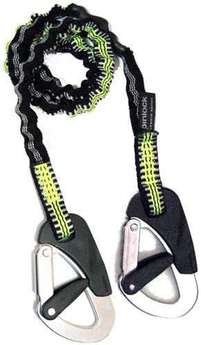Spinlock veiligheidslijn elastisch  2 haken