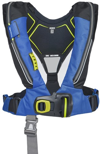 Spinlock deckvest 6D Reddingsvest - 170N - pacific blauw - HRS - noodverlichting - sprayhood