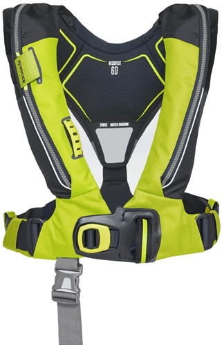 Spinlock deckvest 6D Reddingsvest - 170N - citrus geel - noodverlichting - sprayhood