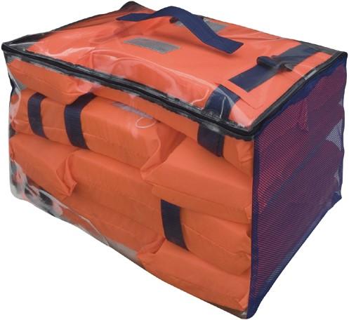 Besto motorbootvest 4 in tas 100N reddingsvesten vastestof - oranje - kruisband