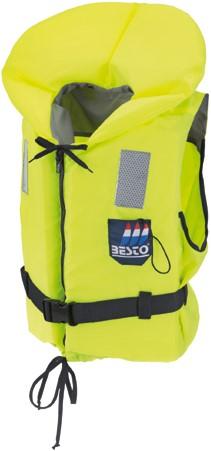 Besto Econ 80N reddingsvest - geel - 60/70 kg - kruisband