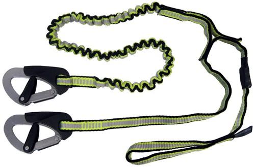 Spinlock veiligheidslijn 2 haken en lus (1 haak elastisch)