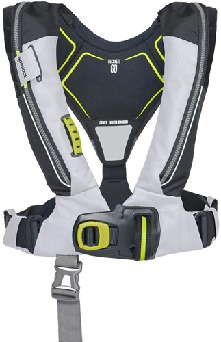 Spinlock deckvest 6D Reddingsvest - 170N - tropisch wit - noodverlichting - sprayhood